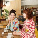 袴で食事をするときにはハンカチや懐紙を味方につけて